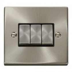 Click Deco Victorian Satin Chrome with Black Inserts