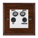 Quad Sockets - TV/FM/Dual SAT