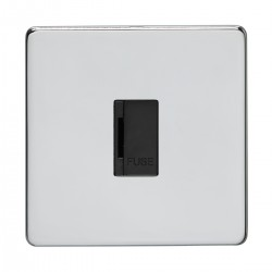 Eurolite Concealed Fix Flat Plate Polished Chrome Switches a...