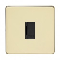 Eurolite Concealed Fix Flat Plate Polished Brass Switches an...