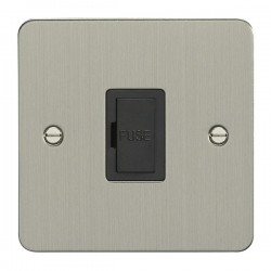 Eurolite Flat Plate Satin Stainless Switches and Sockets wit...