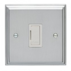 Eurolite Stepped Edge Satin Chrome Switches and Sockets with...