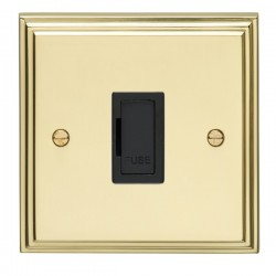 Eurolite Stepped Edge Polished Brass Switches and Sockets wi...