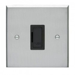 Eurolite Victorian Satin Chrome Switches and Sockets with Bl...