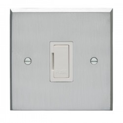 Eurolite Victorian Satin Chrome Switches and Sockets with Wh...