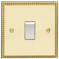 Eurolite Georgian Polished Brass Switches and Sockets with W...
