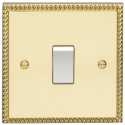 Eurolite Georgian Polished Brass Switches and Sockets with White Insert