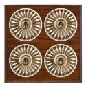 Hamilton Bloomsbury Chamfered Antique Mahogany Toggle Switches