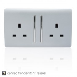 Trendi Silver Switches and Sockets