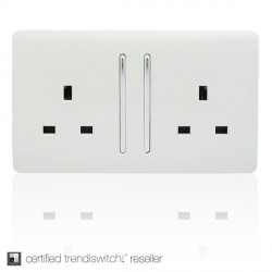 Trendi White Switches and Sockets