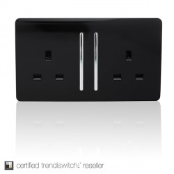Trendi Black Switches and Sockets
