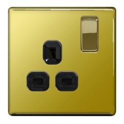 BG Nexus Flatplate Screwless Polished Brass Switches and Soc...