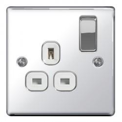 BG Nexus Flatplate Polished Chrome Switches and Sockets