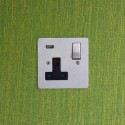 Focus SB 1 Gang Integrated USB Wall Socket