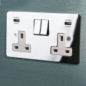 Focus SB Integrated USB Wall Sockets