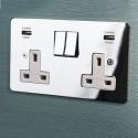 Focus SB Integrated USB Wall Sockets