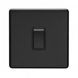 Eurolite Concealed Fix Flat Plate Matt Black Switches and So...