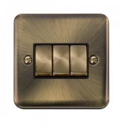 Click Deco Plus Antique Brass with Black Inserts