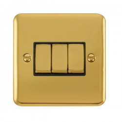 Click Deco Plus Polished Brass with Black Inserts