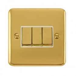 Click Deco Plus Polished Brass with White Inserts