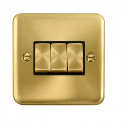 Click Deco Plus Satin Brass with Black Inserts