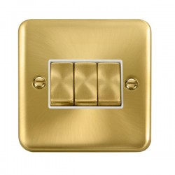 Click Deco Plus Satin Brass with White Inserts