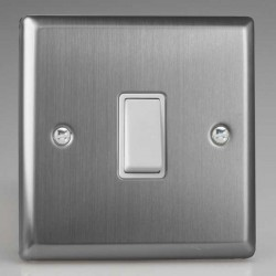 Varilight Classic Brushed Steel with White Inserts