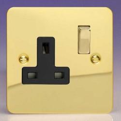 Varilight Ultraflat Polished Brass with Black Inserts