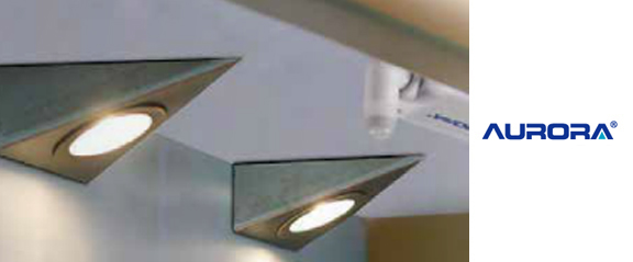 Aurora Stainless Steel Triangular Halogen