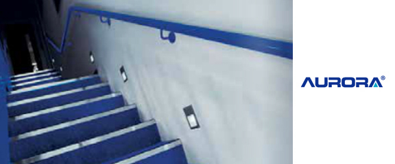 Aurora Aluminium IP65 Recessed LED Wall Light