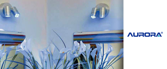 Aurora Aluminium IP65 Adjustable Single LED Wall Light