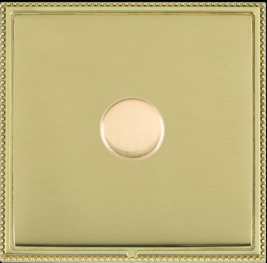 Hamilton Linea-Perlina CFX Polished Brass/Polished Brass Push On/Off Dimmer 1 Gang 2 way LPX1X40PB/PB