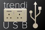 NEW! Trendi USB Wall Sockets