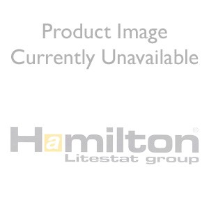 Hamilton Linea-Rondo CFX Satin Brass/Satin Steel 1 Gang Double Pole 45A Red Rocker + 13A Switched Socket ...