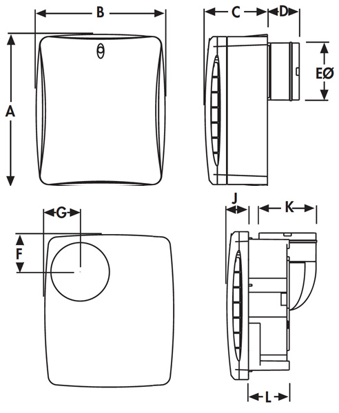 Selv Bathroom Fan Wiring Diagram : Vent axia va xt wiring diagram