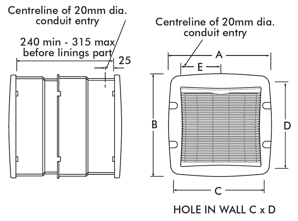 vent axia lo carbon t series wall dimensions vent axia lo carbon t series tx9wl 9 inch wall fan 456166 at uk vent axia t series wiring diagram at soozxer.org