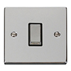 Chrome, Stainless Steel, White PVC, Black Nickel and Brass Switches and Sockets at UK Electrical Supplies