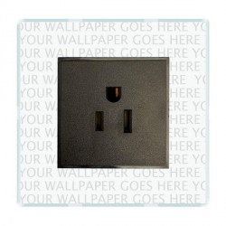Hamilton Perception Clear 1 Gang 15A 127V American Unswitched Socket with Black Insert