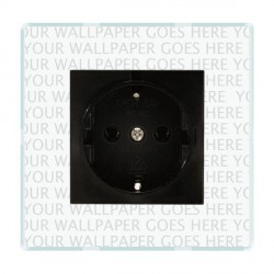 Hamilton Perception Clear 1 Gang 10/16A German Unswitched Socket with Black Insert