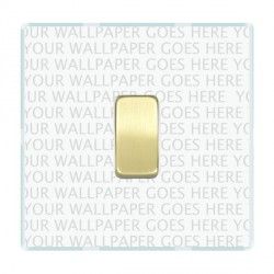 Hamilton Perception Clear 1 Gang 20amp Intermediate Switch with Satin Brass Rocker and White Insert