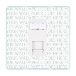 Hamilton Perception Clear 1 Gang RJ45 Outlet Cat 5e Unshielded with White Insert