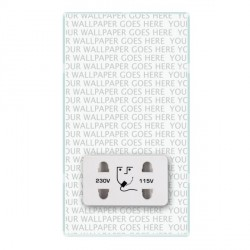 Hamilton Perception Clear Shaver Socket Dual Voltage with White Insert