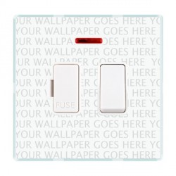 Hamilton Perception Clear 1 Gang 13A Fused Spur, Double Pole + Neon with White Insert