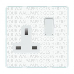 Hamilton Perception Clear 1 Gang 13A Switched Socket - Double Pole with White Insert
