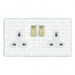Hamilton Perception Clear 2 Gang 13A Switched Socket - Double Pole with White Insert
