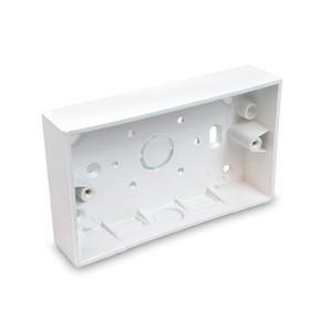 Univolt 2 Gang Square Edge Surface Box