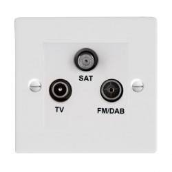 Hamilton Sheer Gloss White TV+FM+SAT (DAB Compatible) with White Insert