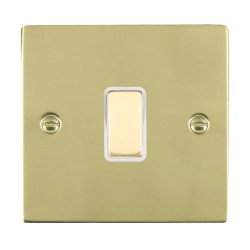 Hamilton Sheer Polished Brass 1 Gang Multi way Touch Slave Trailing Edge with White Insert