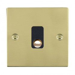 Hamilton Sheer Polished Brass 20A Cable Outlet with Black Insert