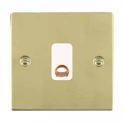 Hamilton Sheer Polished Brass 20A Cable Outlet with White Insert